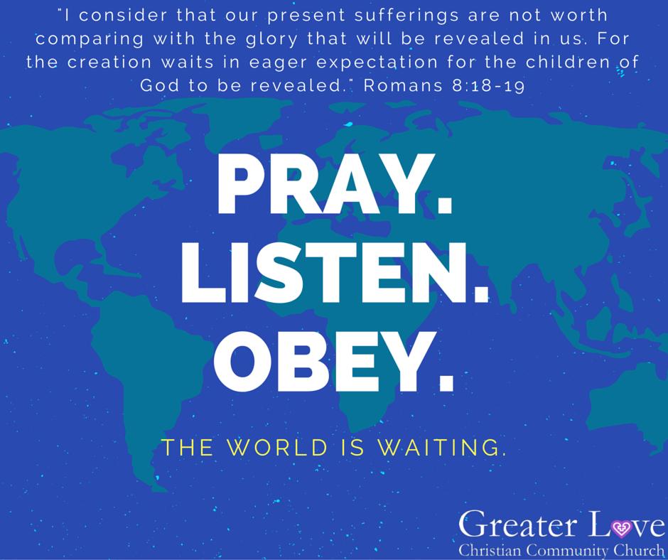 pray listen obey