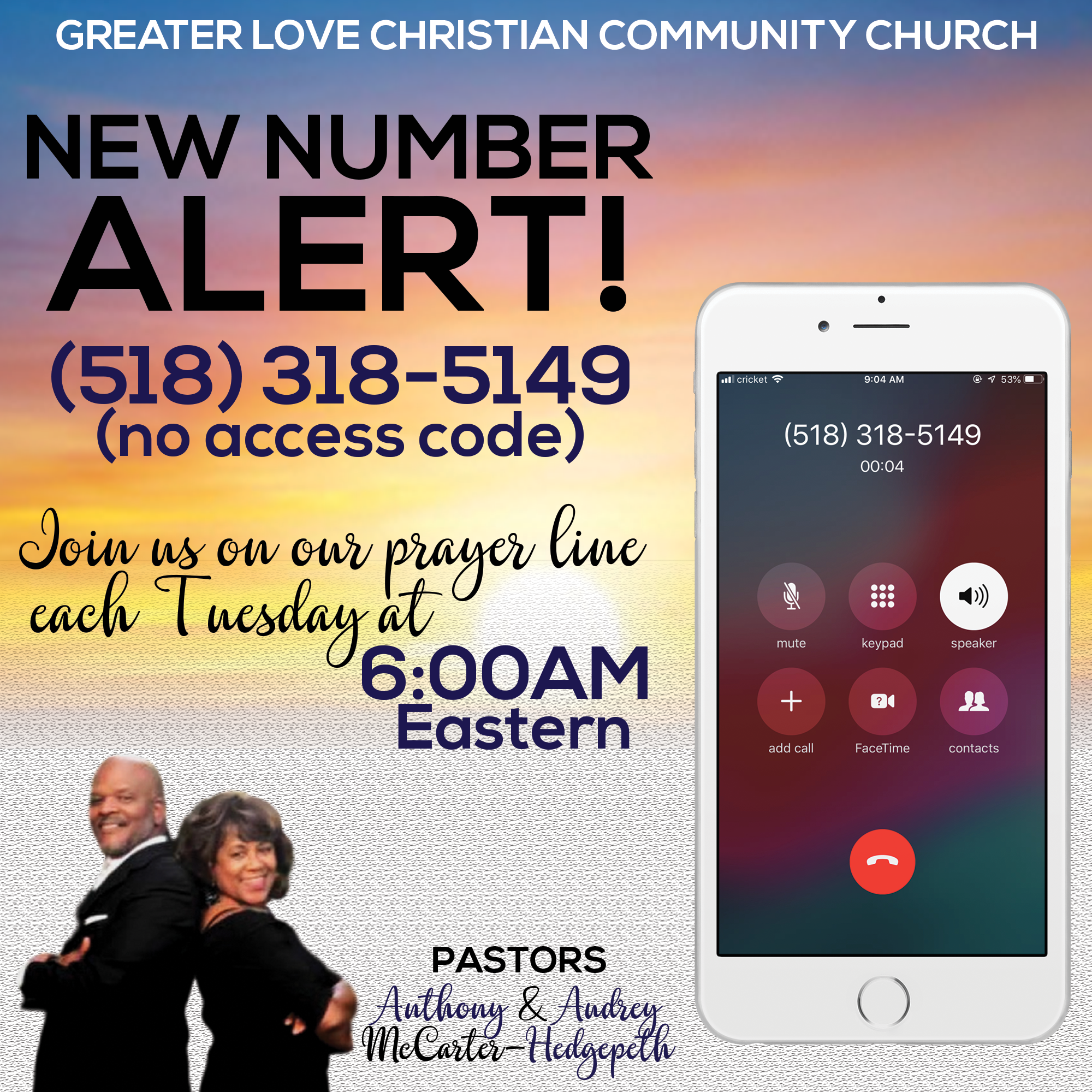 New Prayer Line Flyer